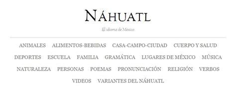Poema En Nahuatl Y Su Traduccion   newhairstylesformen2014.com