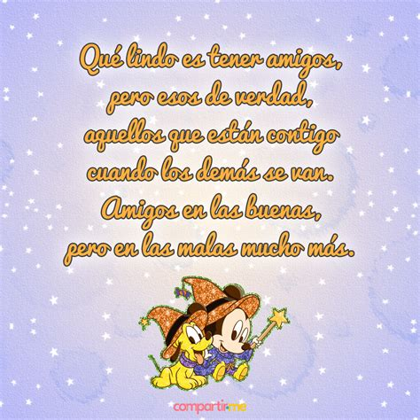 Poemas de amistad cortos con gifs de Winnie Pooh y Mickey ...