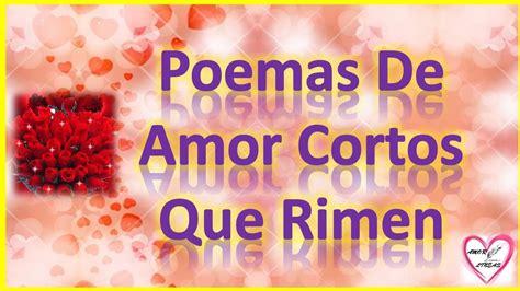 Poemas De Amor Cortos Que Rimen Tristes - YouTube