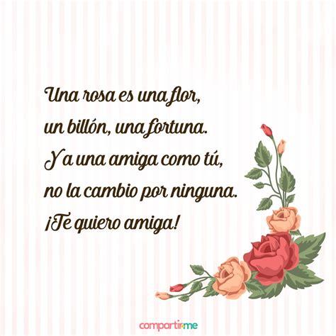 Poemas para amigas especiales con imágenes de rosas