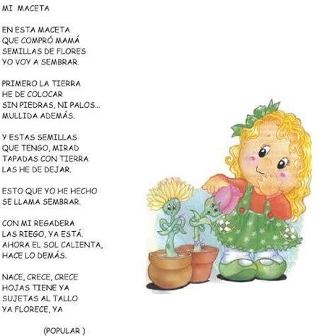 poesias o rimas sobre las flores o plantas para niños ...