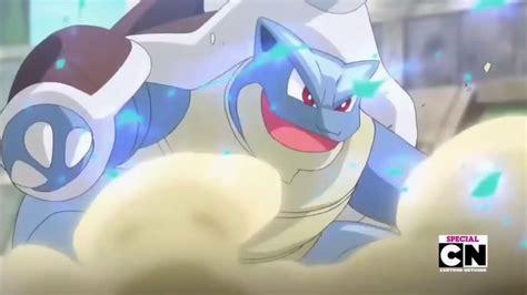 Pokemon xyz mega charizard vs mega blastoise - YouTube