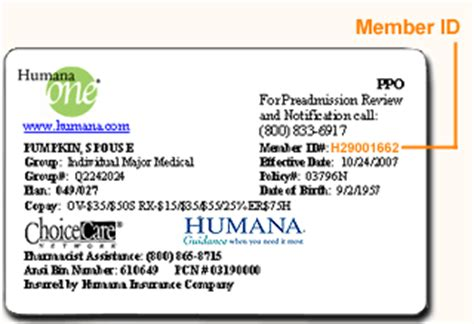 policy number on humana insurance card | Infocard.co