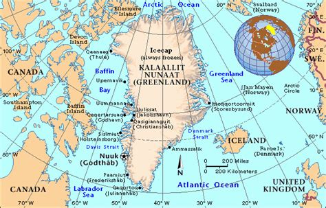 Political map of Greenland. Greenland political map ...