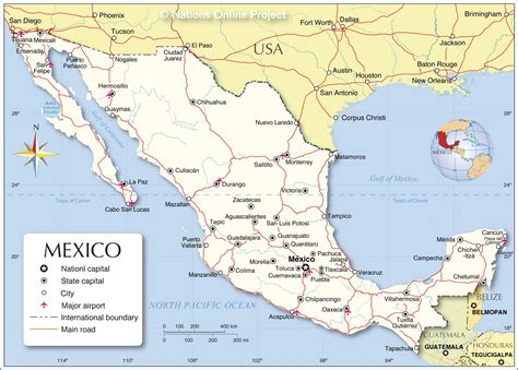 Political Map of Mexico   Nations Online Project