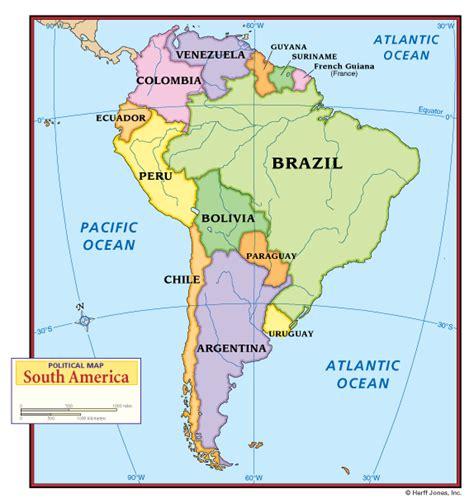 Political Map South America