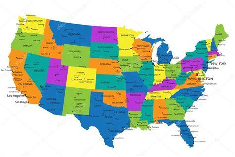 politická mapa Spojené státy americké — Stock Vektor ...