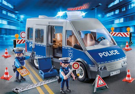 Polizeibus mit Straßensperre   9236   PLAYMOBIL® Deutschland