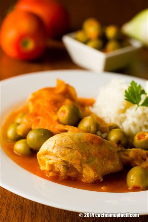 Pollo en salsa de aceitunas. Receta | Cocina Muy Facil