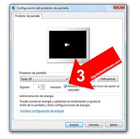 Poner contraseña al protector de pantalla [Windows 7 ...