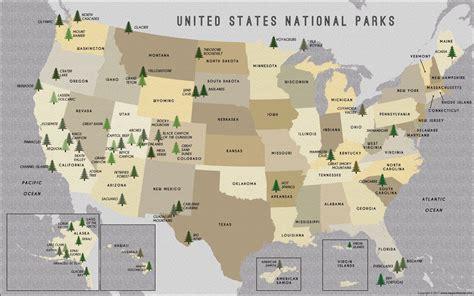 Popular 189 List national park map