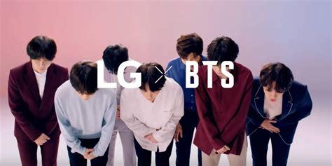 Popular banda de K Pop BTS promociona el próximo celular de LG