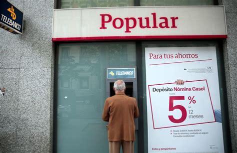 Popular e limita al máximo sus servicios bancarios, ¿cómo ...