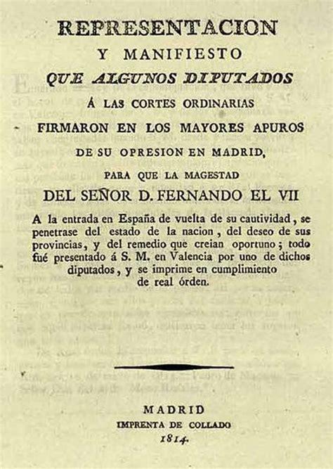 Portada del Manifiesto de los Persas  Madrid, 1814 ...