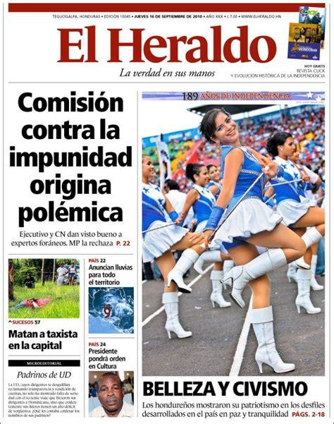 Portada del periódico El Heraldo (Honduras). Todos los ...
