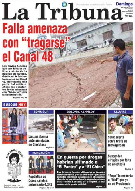 Portada del periódico La Tribuna (Honduras). Todos los ...