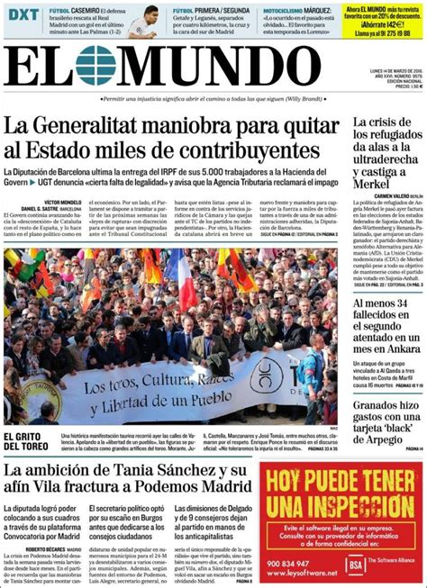 portada El Mundo hoy | SIMON CASAS PRODUCTIONS