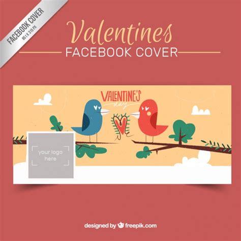 Portada linda de facebook de san valentín con pájaros ...
