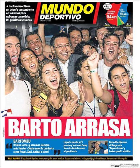Portada Mundo Deportivo: Barto arrasa - FC Barcelona Noticias