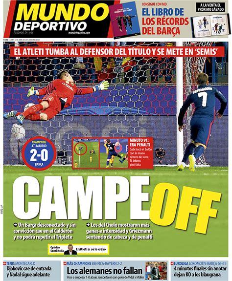 Portada Mundo Deportivo, jueves 14 de abril de 2016