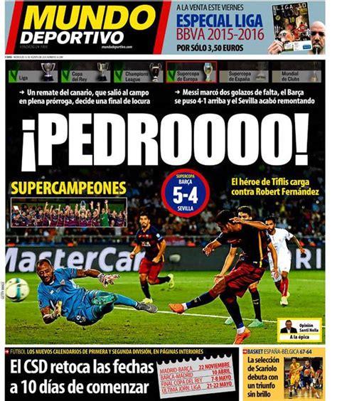 Portada Mundo Deportivo: ¡Pedroooo!   FC Barcelona Noticias