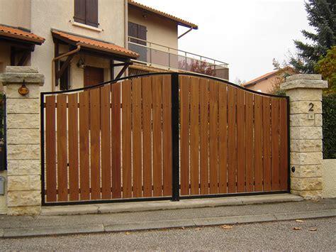 Portail bois et fer solde portail | Amaranthes