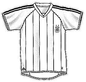 Portal Escuela Colorear la camiseta de Argentina (Futbol)