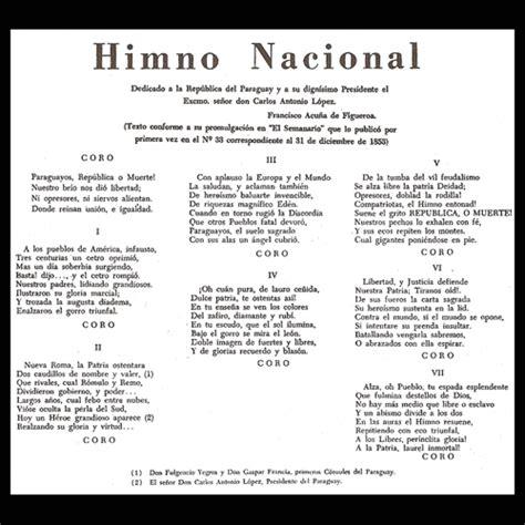 Portal Guaraní   HIMNO NACIONAL PARAGUAYO  Letra de ...