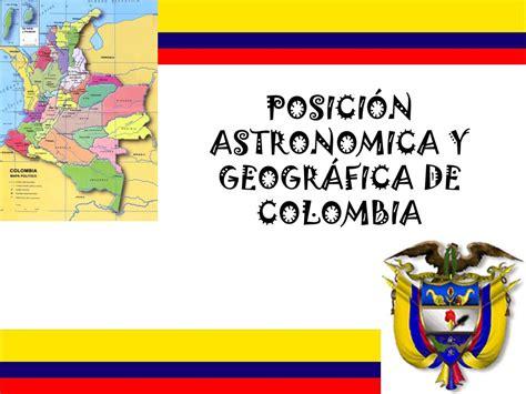POSICIÓN ASTRONOMICA Y GEOGRÁFICA DE COLOMBIA - ppt video ...
