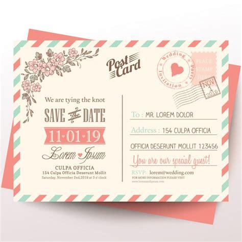Postal para una invitación de boda | Descargar Vectores gratis