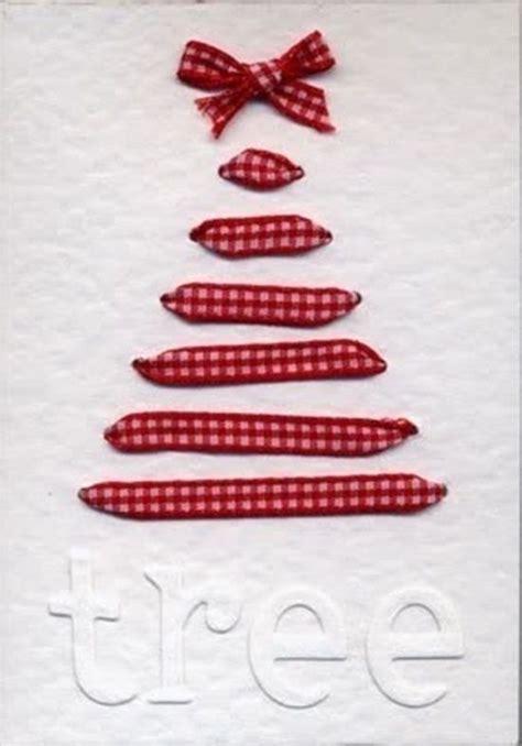 Postales de Navidad originales con cintas y ramas secas ...