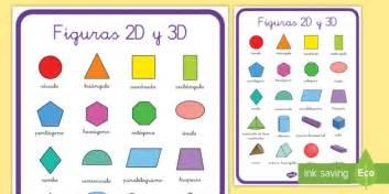 Póster DIN A2: Figuras 2D y 3D   figuras 2D, figuras 3D, mates