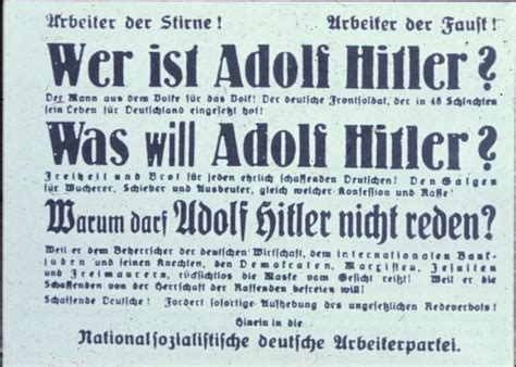 Poster: Who is Adolf HItler?