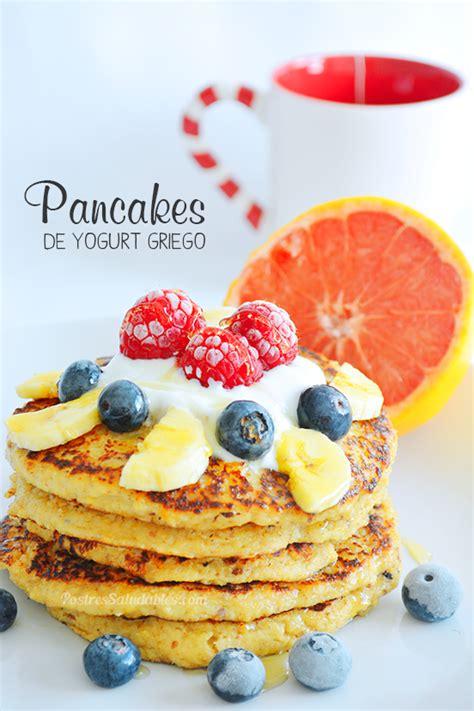 Postres Saludables Pancakes de Yogurt griego y avena