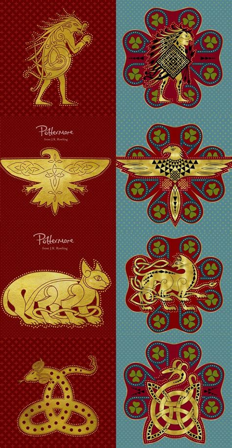 pottermore new ilvermorny house logos   Harry Potter in ...