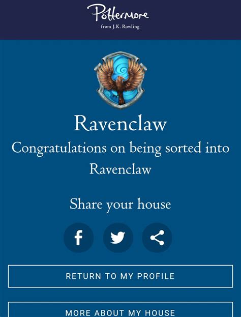 Pottermore on Twitter:  Welcome to Ravenclaw, Ana! And ...
