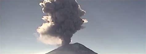 Powerful eruptions at Popocatépetl volcano, Mexico