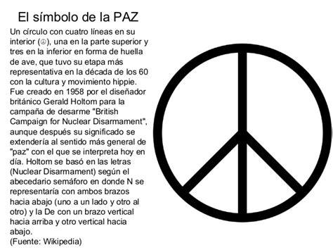 Powerpoint simbolo paz