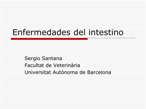 PPT   Enfermedades del intestino PowerPoint Presentation ...