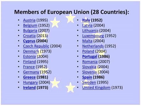 PPT - EUROPEAN UNION COUNTRIES PowerPoint Presentation ...