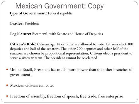 PPT - Governments OF BRAZIL AND MEXICO PowerPoint ...