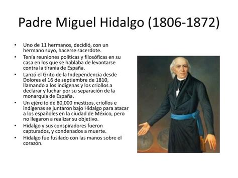 PPT - Padre Miguel Hidalgo (1806-1872) PowerPoint ...