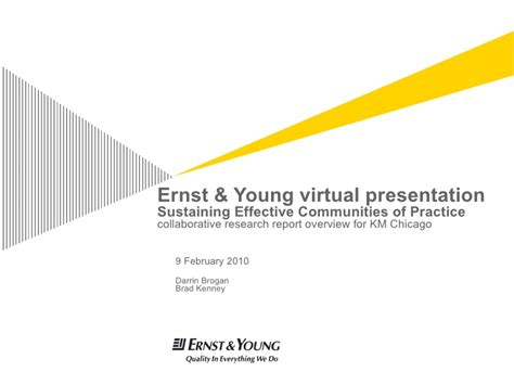 Practicing Communities of Practice with Ernst & Young