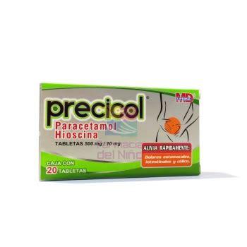 PRECICOL  PARACETAMOL/HIOSCINA  20 TABS 500/10 MG ...