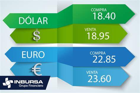 Precio del dólar en ventanilla de Inbursa   Cambio Peso Dolar