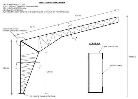 Precio estructura metalica por metro cuadrado – Materiales ...