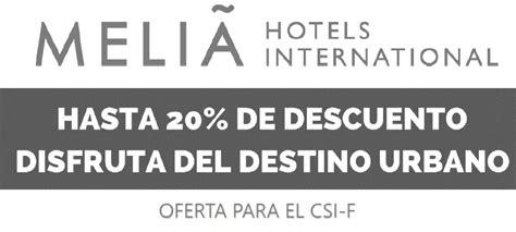 Precios especiales para afiliados en MELIA HOTELS ...