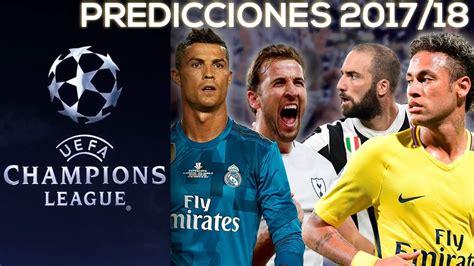 PREDICCIONES UEFA Champions League Octavos de Final 2018 ...