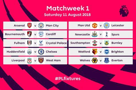 Premier League 2018-2019, il calendario delle partite ...