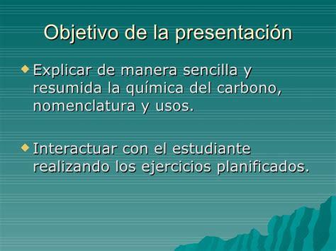 Presentación de la quimica del carbono